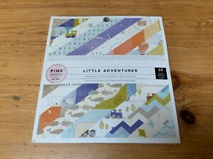 Pink Paislee LITTLE ADVENTURER -BOY 6x6 Paper Pad 36 Papers 18 Designs