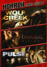 WOLF CREEK/ HANNIBAL RISING/ PULSE Triple Feature 3-Disc DVD Set [V33]