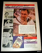 Tennis 1935 Bill Tilden Camel Cigarette Advertisement They Don'T Get Your Wind!