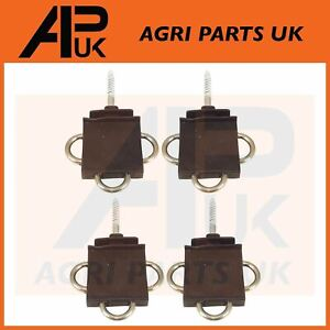 4x Three 3-Way Electric Fence Gate Handle Insulator Connection Connector