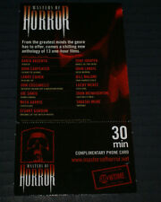 MASTERS OF HORROR FANGORIA 30 MINUTE PHONE CARD NEVER USED NEAR MINT NEW