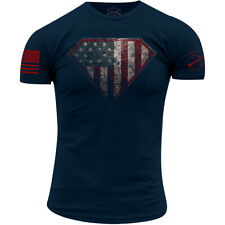 Ворчун стиль супер Патриот 2.0 T-Shirt-Navy