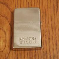 Vintage Ronson Wind II Chrome Working Lighter Not Zippo