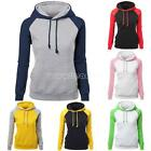 Women Long Sleeve Hoodie Sweatshirt Jumper Sweater Pullover Top Coat Autumn AU4D