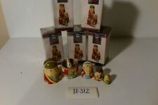 Hand painted wooden soldier vintage kids toy games 5 piece puzzle set