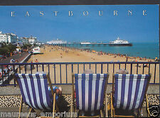 Sussex Postcard - Deckchairs at Eastbourne   RR361