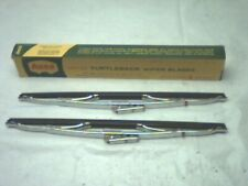 "NOS 13"" Windshield Wiper Blades Anco Red Dot Turtleback 810 Chrome"