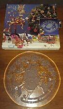 "Studio Nova Winterland Santa Glass Cake 15"" Plate Platter SA532/311 Christmas"