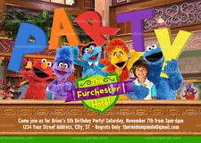 Sesame Street Invitation, Furchester Hotel Party, Elmo Birthday Invite