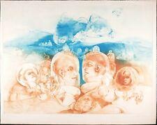 Rare Vintage  Print, G. H. Rothe Pencil Signed, Mezzotint Etching, 'Glasstown'