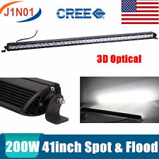 Slim 41inch 200W Led Light Bar Single Row Driving Truck Offroad SPOT FLOOD 40""