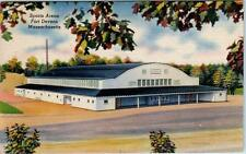 FORT DEVENS, Massaschusetts  MA    SPORTS ARENA  ca 1940s Linen   Postcard