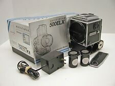 HASSELBLAD 500ELX..FINDER..COVERS..BATTERIES..CHARGER..BOOK..BOX..WORKS GREAT!