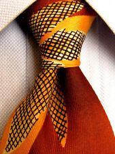 Mens Beautiful Brown VINTAGE Tie A1299