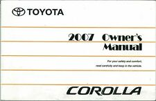 2007 Toyota Corolla Owners Manual User Guide Reference Operator Book Fuses