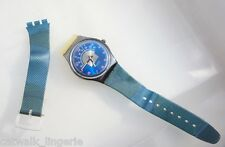 Swatch Blue Tune GX119 1990 Collection Blue Analog Dial Watch