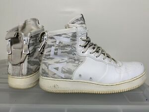 Mens NIKE SF Air Force 1 AF1 Winter Camo White High Tops US 12 #17583