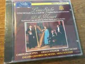 Spohr Mozart - Konzert Flöte Harfe [CD Album] Novalis NEU  Holliger Nicolet