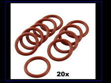 20 Pcs Silicone OD 25mm Diameter 2.5 mm Thickness O Ring Seal
