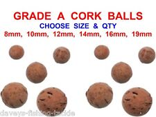 CARP FISHING CORK BALLS FOR POP UPS BOILIES 8mm 10mm 12mm 14mm 16mm 19mm POPPERS