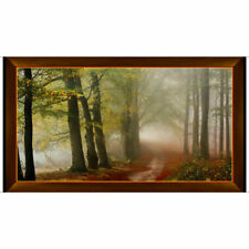 "Nature Forest Trees Green Foliage Scenic Cotton Fabric QT Artworks 24""X44"" Panel"