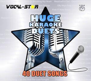 VOCAL-STAR DUETS HUGE KARAOKE HITS CDG CD+G DISC SET - 40 SONGS