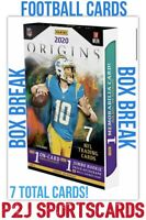 2020 PANINI ORIGINS FOOTBALL CARD HOBBY Box BREAK 1 RANDOM TEAM Break 4320