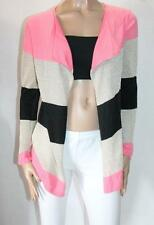 Sweet Girl Brand Pink Gold Black Striped Wool Cardigan Size S/M BNWT #SX92