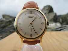 Vintage Longines  14 Karat Solid Gold Automaic 19A Wristwatch 50s With Papers