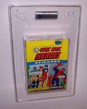 1975 Comic Book Heroes Wax Pack Box N/S Gai Graded Authentic Empty Box Nm-Mt 8