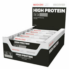MUSASHI High Protein 12 x 90g Bars P45 Low Carb Advanced Protein Blend