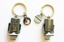 Elvis Presley: TCB Microphone Key Chain With Elvis Picture Charm The King