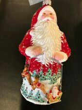 Patricia Breen 2018 Tivoli Claus – Reindeer & Sleigh - Red - Restricted Quantity