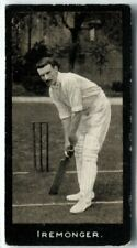 More details for tobacco card, f & j smith, cricketers, cricket, 1st series, 1912, iremonger, #2