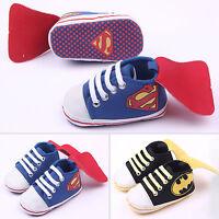 Newborn Baby Kids Unisex Cartoon Prewalker Non-slip Pram Shoes Trainers Sneakers