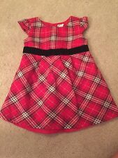 Old Navy Baby Girls Red Checkered Holiday Dress Size 6–12 Months