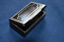 Small Snuff Box with Silver Inlay