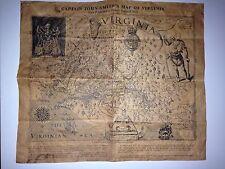 CAPTAIN JOHN SMITH'S MAP OF VIRIGINIA 1612