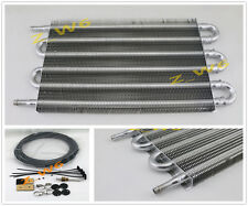 Universal Car Truck 6 Row Radiator Aluminum Trans Transmission Oil Cooler + Hose