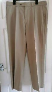 "Mens Wolsey Trousers - Beige Chino Style - Waist 36"" / Inside Leg 31"""