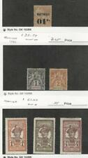 Martinique, Postage Stamp, #9, 33-34, 62-64 Mint Hinged, JFZ