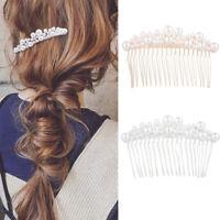 Bridal Rhinestone Clips Pearl Hair Combs Wedding Hair Accessories Hair Pin n