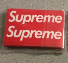 100 PCS SUPREME STICKERS Skateboard Logo Car Sticker Decal Red