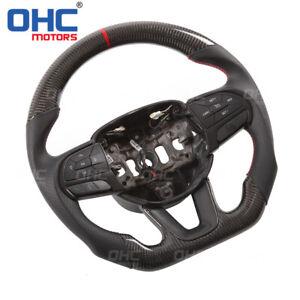 Real Carbon Fiber Steering Wheel for Dodge Charger Challenger OHC Motors