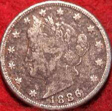 1886 Philadelphia Mint Liberty Nickel