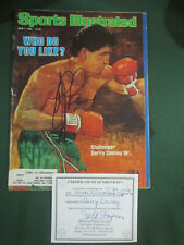Signed Gerry Cooney Sports Illustrated Who Do You Like 6/7/82 Cert Of Authencity