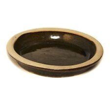 Set of 4 CLEARANCE 15cm Brown Malay Glazed Saucer Dish/Garden Pot Accessory