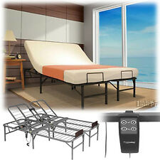Full Size Electric Adjustable Head Lift Bed Frame Remote Control Foundation Base