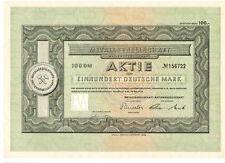 Metal sociedad AG 100dm Frankfurt 1952