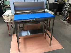FISH MONGERS FILLETING CUTTING TUB TABLE BENCH STAINLESS STEEL  SEA FISHING